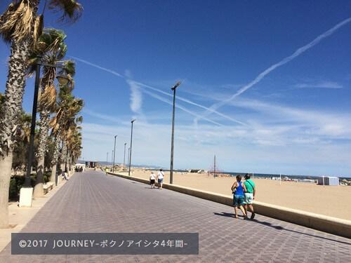 バレンシアのビーチ