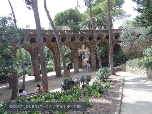グエル公園遊歩道