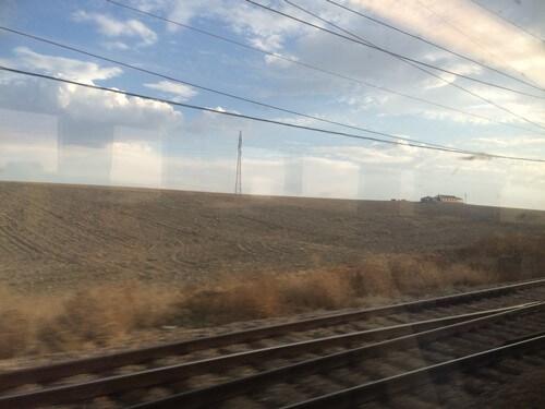 スペインの電車窓