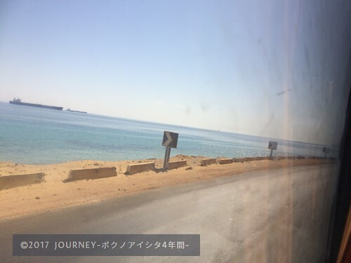 バスの車窓(海)